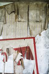 Communal (Manol Z. Manolov) Tags: wallpaper building abandoned hammer poster symbol decay urbandecay communist communism indoors bulgaria forgotten urbanexploration sickle burgas socialism urbex