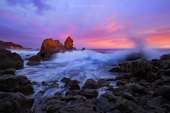 Monsoon Madness (mpurciel) Tags: ocean sunset del canon coast mar waves corona californiacoast escaype