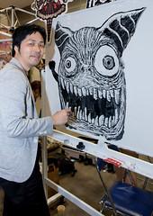 Live Painting (Design Festa) Tags: art japan illustration japanese tokyo cool artwork artist creepy illustrator designfesta japaneseart tokyobigsight artevent artfestival livepainting japaneseguy japanartfestival japaneseartfestival designfestavol41