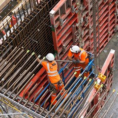 Reinforcing Bars (McTumshie) Tags: england london construction unitedkingdom moorgate development rebar londonist crossrail shuttering 13july2015