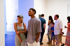 (heatherbirdtx) Tags: color art museum composition couple texas availablelight candid interior strangers visitors fortworth themodern