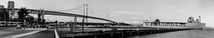 the launch party that never was (pbo31) Tags: sanfrancisco california bridge blue sunset summer blackandwhite panorama silhouette bay pier nikon marine ship gray over navy large july panoramic baybridge embarcadero sail 80 32 southbeach stitched supply d800 2015 boury pbo31 pier30