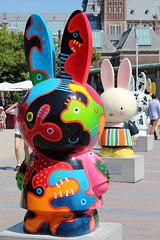 I feel so... (just.Luc) Tags: sculpture bunny netherlands amsterdam museumplein nederland escultura miffy colourful paysbas nijntje dickbruna