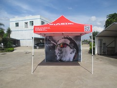 Quick Folding Tent - Tent met full color achterwand