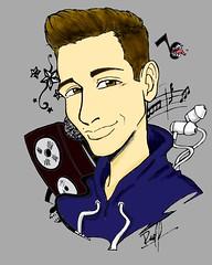 Raoul V1 (ReneInk) Tags: raoul vázquez draw music anime musical notes artbook la voz raoulvazquez tattoo