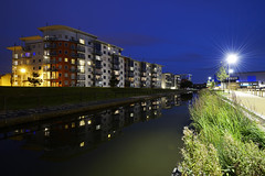 The Wharf, Walsall 04/09/2016 (Gary S. Crutchley) Tags: the wharf uk great britain england united kingdom urban town townscape walsall walsallflickr walsallweb black country blackcountry staffordshire staffs west midlands westmidlands nikon d800 history heritage local night shot nightshot nightphoto nightphotograph image nightimage nightscape time after dark long exposure evening travel street slow shutter raw 1635mm f40g af s ed nikkor canal navigation cut inland waterway bcn narrowboat lock junction wyrley and essington canalscape scape