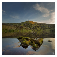 Reflections on Summer... (fearghal breathnach) Tags: loughbray reflection reflections lake mountains summer water calm stillness summerreflections reflectionsonsummer wicklow wicklowmountains goldenhour longexposure leefilters haida rocks cloudsstormssunsetssunrises clouds squareformat square border wildnerness greatoutdoors lough