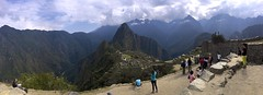 High Above Machu Picchu (oxfordblues84) Tags: machupicchu oat overseasadventuretravel peru cusco cuscoprovence andesmountains andes lostcityoftheincas inca incaruins bucketlistdestination sky clouds cloudysky cloud huaynapicchu panoramic machupicchupanoramic travelers people tourists