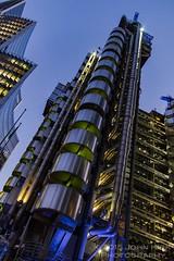 Futuristic London 1980s (The Twisted Pixel) Tags: london lloydsoflondon architecture building thecity dusk lookingup futuristic