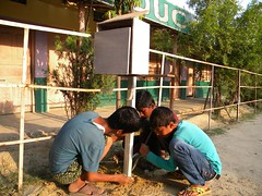 Students Setting Up a Weather-Box