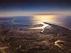 San Diego and Coronado Island, Aerial View (Paddy O) Tags: california beach airplane pacificocean coronadoisland coronado sky aerialview 2016 christmas sandiego downtown