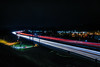 the daily slow exedus east (pbo31) Tags: bayarea nikon d810 color december winter 2016 boury pbo31 night dark lightstream motion traffic livermore highway 580 ramp exit over black roadway eastbay alamedacounty