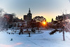 Winter's Solstice (KC Mike D.) Tags: winter solstice snow sunset building plaza club country countryclubplaza season christmas fountain