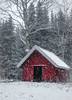 red cabin in snow (dovlindphoto) Tags: cabin snow snowfall snowing frost winter forest nature woods redhouse redcabin sweden dalsland dovlind dovlindphoto pentax k3 ice