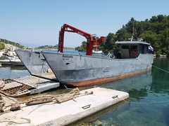 Landing craft (SteveInLeighton's Photos) Tags: may 2009 greece paxos paxi paxoi boat harbour landingcraft