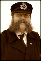 Merseyside man (* RICHARD M (Over 6 million views)) Tags: mycroft mycroftmilverton portraits portraiture mono sepia characters merseysiders liverpudlians scousers manofmystery navaluniforms merchantnavy whiskers bewhiskered spec spectacles bespectacled hairy mustache moustache sideburns sideboards porkchopsideburns porkchopsideboards oceanicsteamnavigationcompany whitestarlineofbostonpackers whitestarliners whitestarline merchantmarine shipping nautical mariner naval liverpool merseyside maritimemercantilecity unescomaritimemercantilecity europeancapitalofculture capitalofculture seafaring sailor seafarer peakcap peakedcap capbadge enigmatic blastfromthepast periodcostume specs glasses eyeglasses localcelebrity localcelebrities wireframedglasses wireframedspectacles wireframedspecs merchantnaval merchantmarineuniform shipsofficer