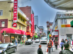 China Town- San Francisco (joe Lach) Tags: chinatown sanfrancisco hilly hills streets people cars road california joelach