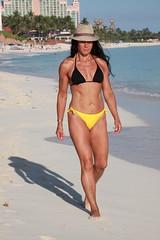 Sheila Walking towards me (michael bottoms-apologies to everyone...) Tags: wife beach bikini blue bluesky fedora sexy nassau bahamas tanned