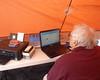 009 Rich In Tent On His Laptop (saschmitz_earthlink_net) Tags: 2017 california orienteering vasquezrocks aguadulce losangelescounty laoc losangelesorienteeringclub