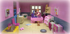 Tracy's Pink Bedroom. (MinifigNick) Tags: bedroom pink