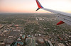 Almost Time to Get to Phoenix (craigsanders429) Tags: phoenix valleyofthesun temprearizona aboardaplane southwestairlines wing urbanscenes city cityscapes cities tallbuildings