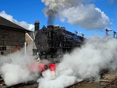 USATC S160 no 6046 @ Grosmont,  North Yorkshire Moors Railway (Ermintrude73) Tags: northyorkshiremoorsrailway nymr nymrautumnsteamgala2016 grosmont 6046 baldwinlocomotivecompany philadelphia pennsylvania usa 280