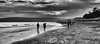 Beach people. (Greatdog) Tags: blackandwhite landscape dorset beach poole cloudsstormssunsetssunrises sandbanks