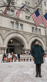 Kathy Kelly and Other Anti-Torture Activists Hold a Demonstration Outside Trump International Hotel in Washington, DC
