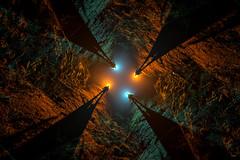 Rotating the Snake (Waving lights in the dark) Tags: snake pass snakepass derbyshire peakdistrict afterdark nightphotography night silhouettes silhouette rotation rotate rotated camerarotation camerarotate straightoutofcamera shotinoneexposure sony sonya7 sonyzeiss atmospheric foggy fog