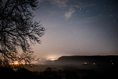 20-365 17 - Misty Night Over the Lyth Valley (Richard Berry Photography) Tags: night 50mm nightphotography foggy stars richardberry wwwrichardberryphotographycouk photooftheday mist lythvalley project365