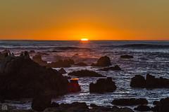 Sun Pancake (lycheng99) Tags: pancake sunset sun glow sky color orange rocks rockformation pacificcoast pacificocean pacific pacificgrove california californiacoast
