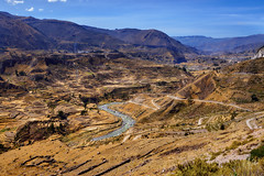 Valley of Colca River, Peru (szeke) Tags: 2007 canyon colca landscape mountain peru river sunny arequipa pe
