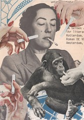 Peer Pressure - collaboration with Sabine Remy (kurberry) Tags: smoking smoker chimp collage collagecollaboration cutpaste vintageephemera cigarettes