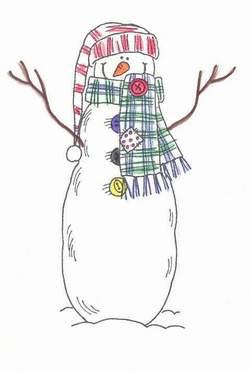 Stamped Snowman