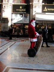 Segway Santa (MattL) Tags: segway santa galleria milan creepychristmas