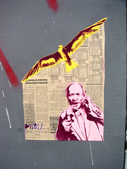 newspaper wings (otherthings) Tags: graffiti clarion alley sanfrancisco stencil streetart pneu