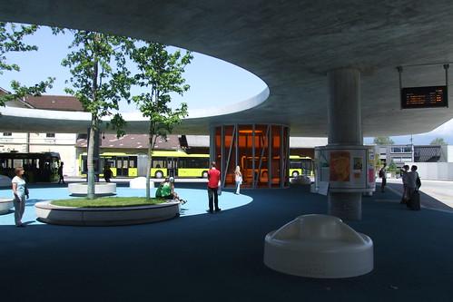 Schaan Bahnhof bus station, 17.06.2012.