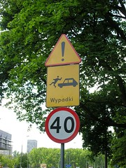 Wypadki! (meaduva) Tags: road sign warning poland stickfigure easterneurope
