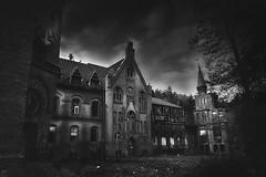Mansion of madness (Jarek Jahl) Tags: mansion madness blackandwhite monochrome cmwd cmwdblackandwhite scary horrible terrible sokołowsko drbrehmer sanatorium grunwald lowersilesia poland görbersdorf