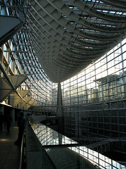Tokyo International Forum atrium (Lil [Kristen Elsby]) Tags: reflection glass japan topv2222 architecture tokyo asia steel interior  atrium tokyointernationalforum rafaelvinoly yurakucho eastasia vinoly
