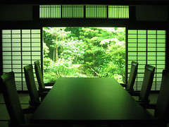 Garden view (Lil [Kristen Elsby]) Tags: green window japan garden kyoto shrine asia view traditional peaceful tatami  getty pointandshoot dining verdant glimpse topv11111 kansai tranquil shoji gettyimages nanzenji  eastasia kinki topf500     gettyimagesonflickr