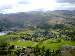Lakes2004_3178Lx (Ennor) Tags: uk favorite lake mountains green 2004 nature water field landscape nationalpark cool rocks flickr village grasmere lakes lakedistrict may cumbria fells favourites top20landscape idyll beautifulscenery lakedistrictnationalpark aesthetics spectacularlandscape specland themegreatheights