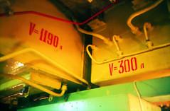 russian nuclear submarine #1 (lomokev) Tags: red yellow rouge lomo graphics war machine nuclear lomolca submarine communist communism soviet type russian coldwar folkestone