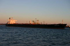 Oil tanker in South Portland