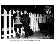 Punk Girls of the Foufounes Electriques, Montreal, 1983 (DawnOne) Tags: bw music white black fashion photography dawn punk photos montreal  exhibit bands linda clubs 1970 1980 2009 hammond 1990 alternative foufounes electriques indyfotocom