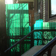 greenpoint (lauratitian) Tags: greenpoint brooklyn green turquoise light square