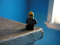 grouchy little lego man (massdistraction) Tags: grouchy lego man amputee discardia blue