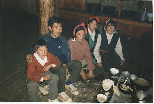 Tibetan family at Yulongsi