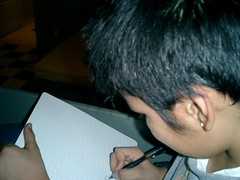 drawing a picture for me (iBjorn) Tags: retreat ye