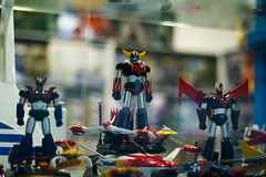 Grendizer (miskan) Tags: kuwait nikon d70 digital 50mm camera goldrake goldorak goldorake goldrak grendizer cartoon japanese window display shop toys toy